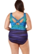 Robby Len by Longitude Acapulco Plus Size X-Back One Piece Swimsuit