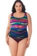 Robby Len by Longitude Heatwave Plus Size X-Back One Piece Swimsuit