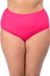 La Blanca Solid Watermelon Pink Plus Size Hi-Rise Swim Bottom