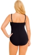 La Blanca Plus Size Solid Black Twist Front Sweetheart One Piece Swimsuit
