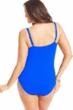 La Blanca Solid Sapphire Blue Plus Size Twist Front Sweetheart One Piece Swimsuit