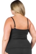 La Blanca Plus Size Solid Black Twist Front Sweetheart Tankini Top