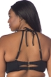 La Blanca Black All Meshed Up Plus Size High-Neck Bikini Top