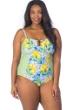 La Blanca Limoncello Plus Size Bandeau One Piece Swimsuit
