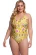 Lucky Brand Cruisin Coronado Plus Size Halter Lace Up One Piece Swimsuit