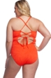 Lucky Brand Doheny Beach Plus Size Scoop Neck Lace Up One Piece Swimsuit