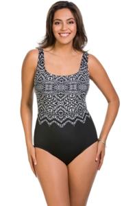 Longitude Safari Night Plus Size X-Back One Piece Swimsuit