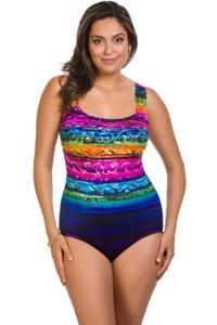 Longitude St. Lucia Plus Size X-Back One Piece Swimsuit
