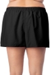 Maxine of Hollywood Plus Size Solid Black Woven Board Short Swim Bottom