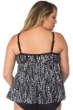 Maxine of Hollywood Plus Size Waterfall Tie Front Tankini Top