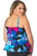 Maxine of Hollywood Plus Size Flourish Peplum Tankini Top
