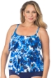 Maxine of Hollywood Plus Size Floral Crush Tiered Tankini Top