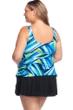 Maxine of Hollywood Galaxy Plus Size Side Tie Swimdress
