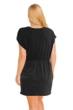 Jordan Taylor Black Plus Size V-Neck Surplice Dress
