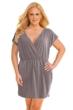 Jordan Taylor Taupe Plus Size V-Neck Surplice Dress
