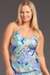 Kenneth Cole Reaction Paisley Intuition Plus Size Tankini Top