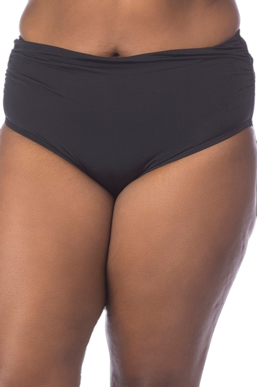 Kenneth Cole Gypsy Gem Plus Size Shirred Tankini Bottom
