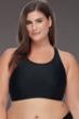 SKYE Plus Size Solid Black Adley High Neck Bikini Top