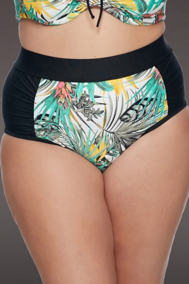 SKYE Plus Size Folia Waverly High Waist Bikini Bottom