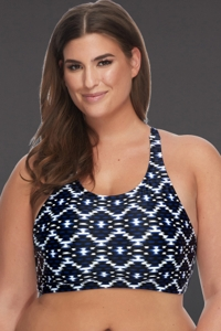 SKYE Plus Size Vestige Adley High Neck Bikini Top