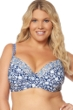 Jessica Simpson Plus Size Patched Up Underwire Bikini Top