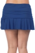 24th & Ocean Plus Size Solid Navy Ruffled Hem Swim Skirt
