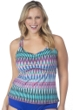 24th & Ocean Plus Size I-Kat Believe It Racer Back Tankini Top