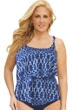 24th & Ocean Plus Size Bohemia Tiered Tankini Top