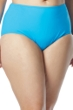 Coco Reef Plus Size Solid Blue High Waist Tankini Bottom