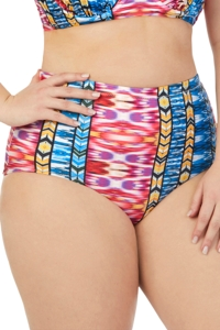 Raisins Curve Plus Size Around The World High Waist Bikini Bottom