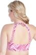 Raisins Curve Chevron Nights Plus Size Crochet High Neck Bikini Top